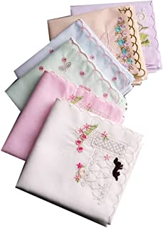Ladies New Embroidered Cotton Soft Handkerchiefs Large 43cm43cm