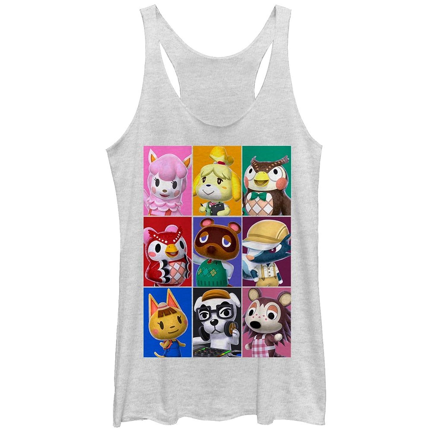 Nintendo Women's Animal Crossing Characters Racerback Tank Top