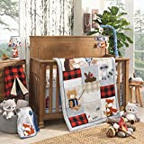 Lambs & Ivy Lambs & Ivy Little Campers 5-Piece Crib Bedding Set - Blue, Red, Gray, Beige baby crib sets Nov, 2020