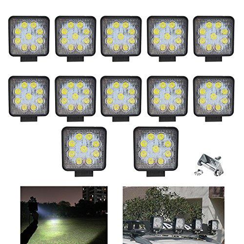 Hengda® 12X 27W LED Arbeitsleuchte 2430LM Scheinwerfer Flutlicht 10-30 V Arbeitsscheinwerfer