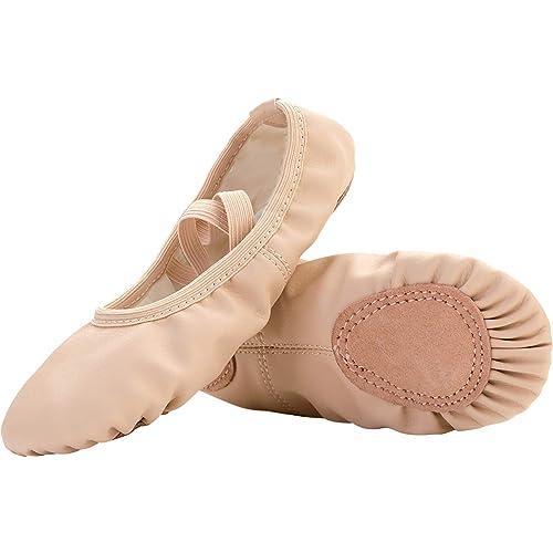 0a848986f80 JIASUQI Ballet Dance Shoes for Kids Girls Womens Flat Non-Slip Yoga Socks  Gymnastics Dancing
