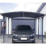 Home Deluxe - Design Carport anthrazit - Falo - Maße: 505 x 300 x 226