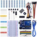 STARTO Starter Kit competible with ArduinoIDE Projects Resistors Jumper Wires and Dupont Wires Includes Free Tutorials Board Breadboard 1 Digit 7-Segment Display Sensor USB Cable