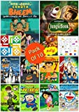 Cartoon Story Books in Tamil For Kids With Fun Activity Puzzle Games ( Pack Of 10 ) | Children Bed Time Illustrated tales | Stories of Chota Bheem, Doraemon, Ben 10, Dora.