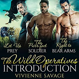 The Wild Operatives Introduction     Wild Ops Team Alpha, Book 1              By:                                                                                                                                 Vivienne Savage                               Narrated by:                                                                                                                                 Shoshana Franck,                                                                                        Samuel Bowden                      Length: 13 hrs and 58 mins     35 ratings     Overall 4.4