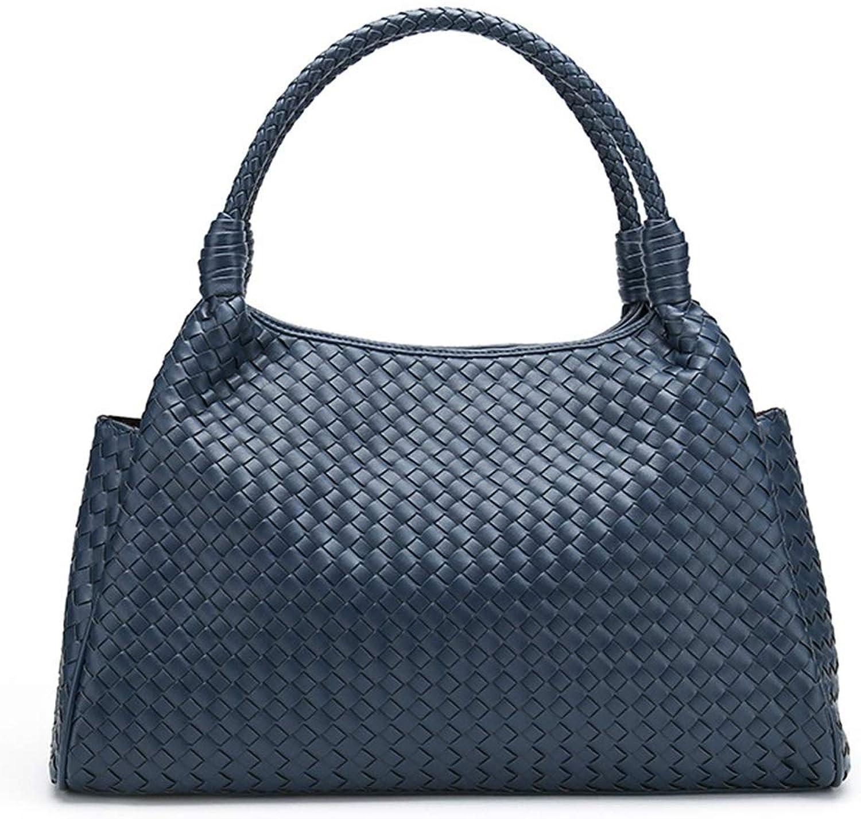 Ploekgda Handgewebte Handtaschen Dumplings Zipper Bag Hochwertige PU Umhängetasche für für für Damen (Farbe   Navy Blau) B07MSG9FL2 6992d9