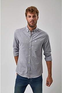 Camisa Oxford - Cinza