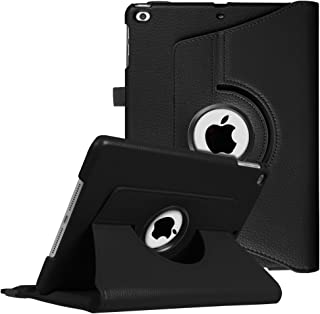 Fintie iPad 9.7 2018 2017 / iPad Air 2 / iPad Air Case - 360 Degree Rotating Stand Protective Cover with Auto Sleep Wake for iPad 9.7 inch (6th Gen, 5th Gen) / iPad Air 2 / iPad Air, Black