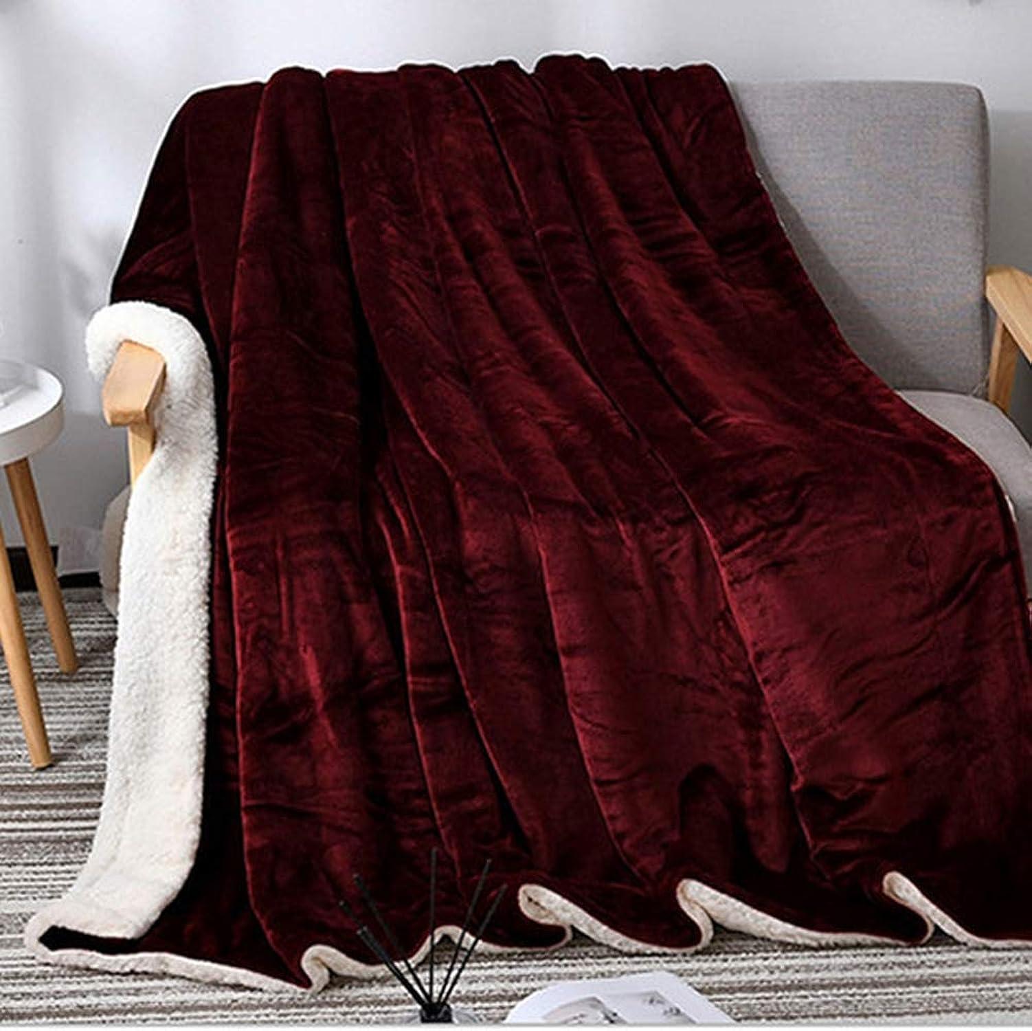 El nuevo outlet de marcas online. Sherpa Fleece Manta Manta Manta de Doble Tamaño Felpa Tirar Manta difusa Suave Manta Microfibra Invierno Adecuado para Dormitorio sofá Sala de Estar (Vino Tinto),180x200cm  n ° 1 en línea