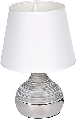 HOMEA 6LCE132BC LAMPE, CERAMIQUE, 40 W, Blanc, DIAMETRE20H27.5CM