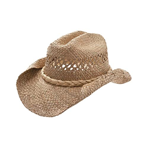 d01c2cdb Straw Cowboy Hat-Natural Roll W35S16A, Natural, One size fits most