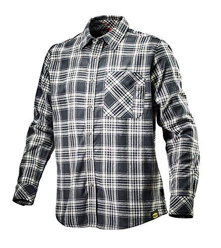 Diadora, Shirt Check, Herren Flanellhemd, Farbe: Schwarz-Weiß, Größe: S