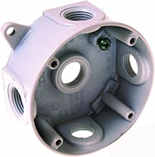 Hubbell-Bell 5361-7 4 Round Weatherproof Splice Box Gray