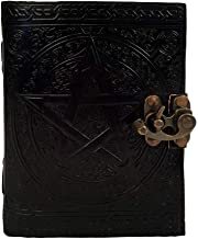 Black Pentagram Witch Craft Embossed Writing Handbook Leather Journal Book of Shadows Diary Appointment Organizer Daily Planner Office Diary College Sketchbook 5 x 7 inches for Men and Women
