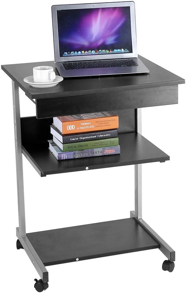 Rolling Standing Desk Modern Multilayer Up Award Table Super sale Computer Stand