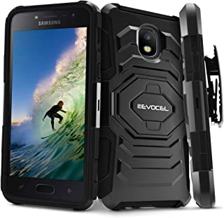 Evocel New Generation Series Compatible with Galaxy J3 2018/ J3 V 3rd/ Express Prime 3/ J3 Achieve/ J3 Star/Amp Prime 3 Belt Clip Holster Case, Kickstand, Dual Layer, Black