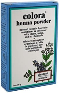 Colora Henna Powder Hair Color Chestnut, 2 oz (Pack of 12)