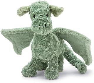 Jellycat Drake Dragon Stuffed Animal, Little, 10 inches