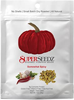 SuperSeedz Somewhat Spicy Pumpkin Seeds 1oz (12pck)