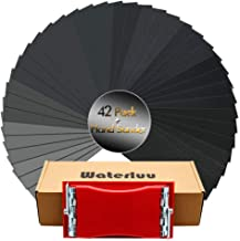 WaterLuu Wet & Dry Sandpapers 120 to 3000 Assorted Grits with Sanding Block Sander, 9x3.6 Inch Sanding Sheets for Wood Furniture Finishing Glass Metal Sanding Automotive Polish(Sander+42 Sandpapers)