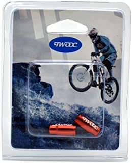 bulingbulingseason 2pcs MTB Road Cycling Bike Tire Valve Caps Bicycle Wheel Tyre Valve Dustproof Cover Protector Aluminum Alloy