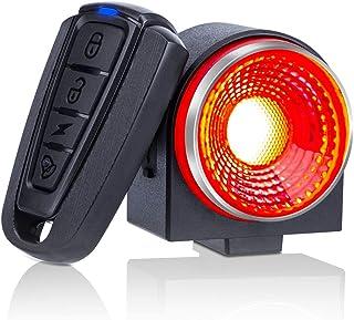 自転車 スマートテールライト 盗難防止アラーム バイク 振動センサー セキュリティアライト ブレーキセンサー セーフティーライト USB充電 115db IP65防水 高輝度COB 夜間走行(A8)