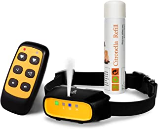 Citronella Spray Dog Training Collar with Remote Control,[With Citronella Spray] Citronella Dog Bark Collar,Rechargeable W...