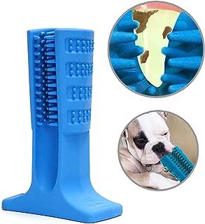 AUSHINE Dog Toothbrush Stick Brushing Stick - Dog Toothbrush Dog Tooth Brush Brite Bite for Dogs Pets Oral Care Puppy Toys Chew Toy Bone Chewers (Large, Blue)