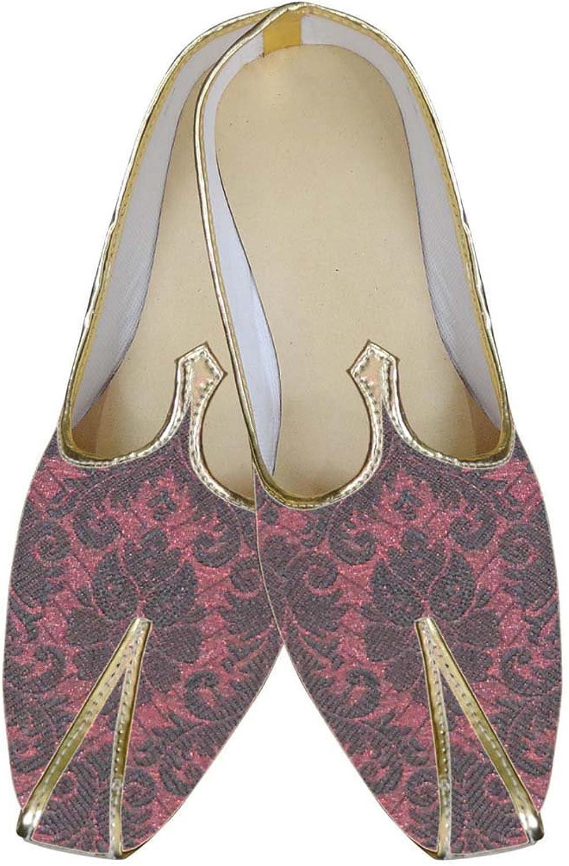 INMONARCH Mens Burgandy Designer Wedding shoes MJ0132