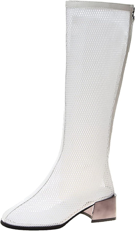 Women Mesh Gladiator Caged Sandals Sexy National uniform free Brand Cheap Sale Venue shipping PU Hollow Chun Knee High