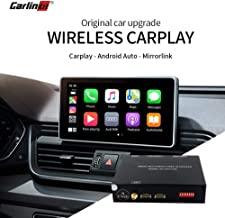 Carlinkit Wireless Carplay Android Auto Mirroring Receiver Box for Audi A3/A4/A5/A6/A7/A8/Q5/Q7/S5 (09-18) Original Screen Stereo Upgrade with Reverse Image, iOS13 Carplay Split Screen Multi-Window