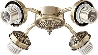 Quorum International Antique Brass Energy Saving Four Light Kit Mounting Hardware