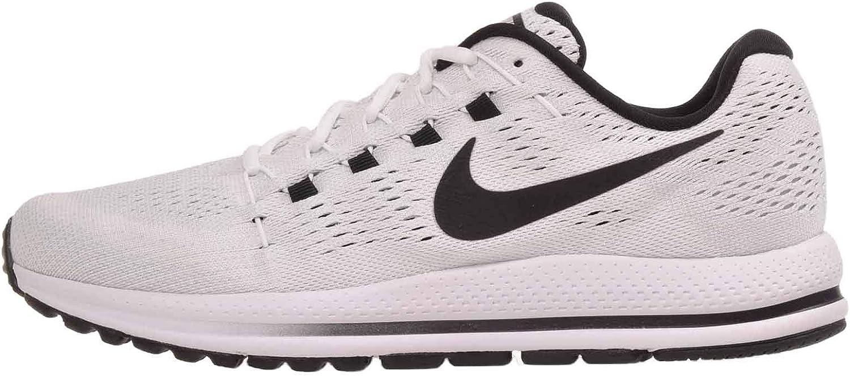 Nike Men's Air Zoom Vomero 12, White Black-Pure Platinum, 14 M US