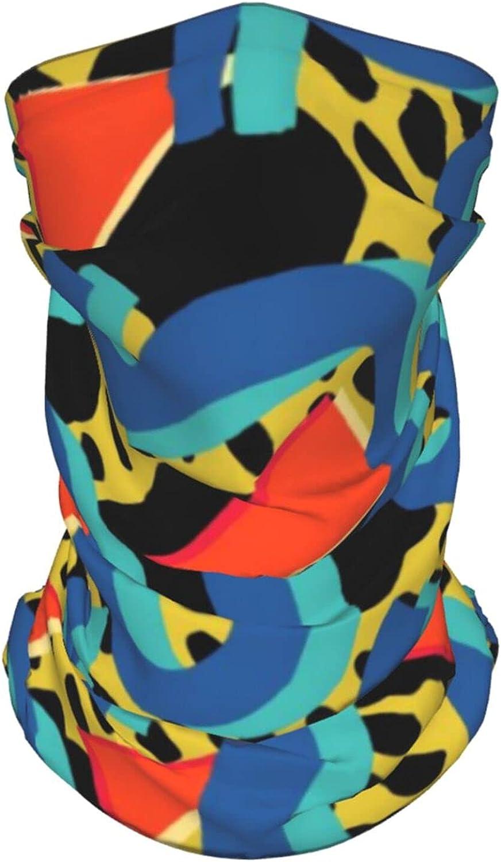 Retro 80s 90s Memphis1 Neck Gaiter Multipurpose Headwear Ice Silk Mask Scarf Summer Cool Breathable Outdoor Sport 2 Pcs