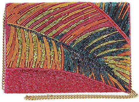 Mary Frances Hot Tropics Beaded Crossbody Clutch Handbag Multi product image