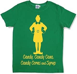 Hank Player U.S.A. Elf Major Food Groups Kid's T-Shirt