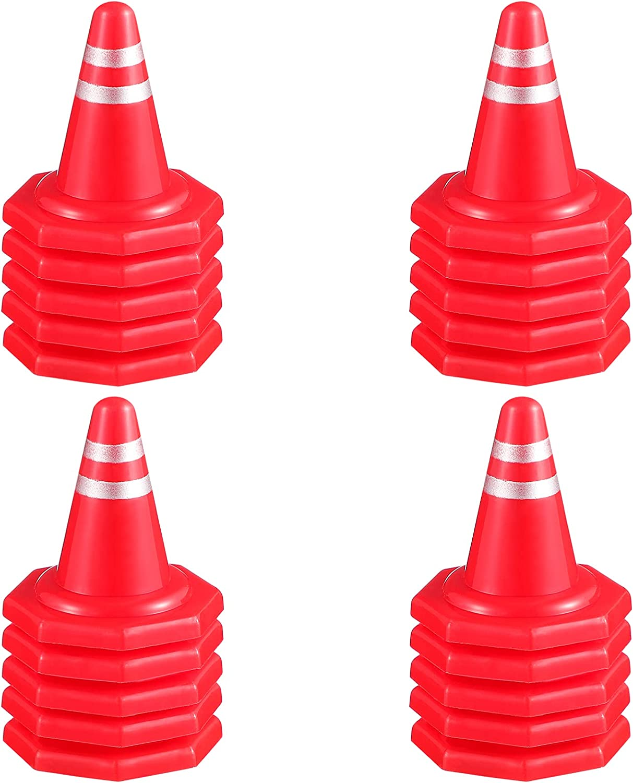 Kisangel 20Pcs Mini Traffic Road Plastic Miniature All items Cheap mail order shopping free shipping Cones