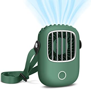 【2020最新版】携帯扇風機 GOOJODOQ 首掛け扇風機 オシャレ 首掛け/手持ち/卓上三用 三段階調節 小型静音 軽量 USB充電 ハンズフリー ハンディファン 外出最適 熱中症対策