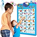 Just Smarty Electronic Interactive Alphabet Wall Chart, Talking ABC & 123s & Music Poster, Best Educational Toy for Toddler. Kids Fun Learning at Daycare, Preschool, Kindergarten for Boys & Girls by Just Smarty