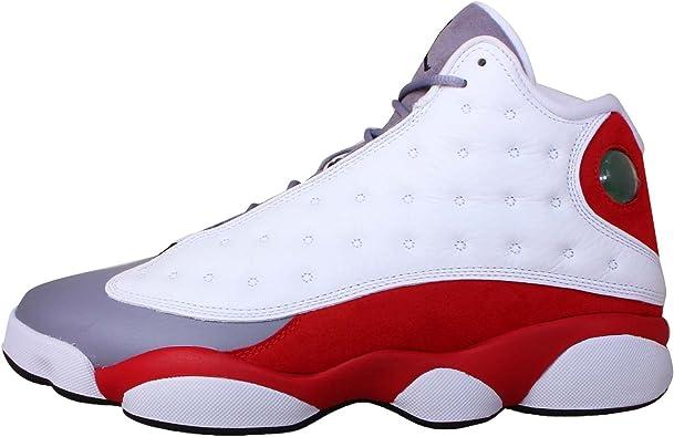 Amazon.com | Nike Mens Air Jordan 13 Retro Grey Toe Leather ...