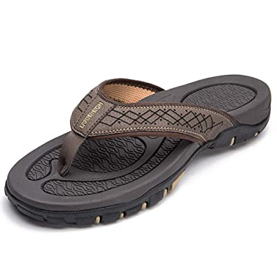 HOBIBEAR Mens Flip Flops Sport Thong Sandals