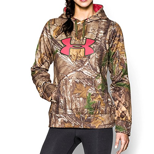 Under Armour UA Camo Big Logo Hoody - Womens Realtree AP-Xtra / Rifle Green / Perfection Small