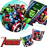 Procos/Carpeta 37-TLG. Party-Set * Avengers Assemble * mit Teller + Becher + Servietten + Deko |...