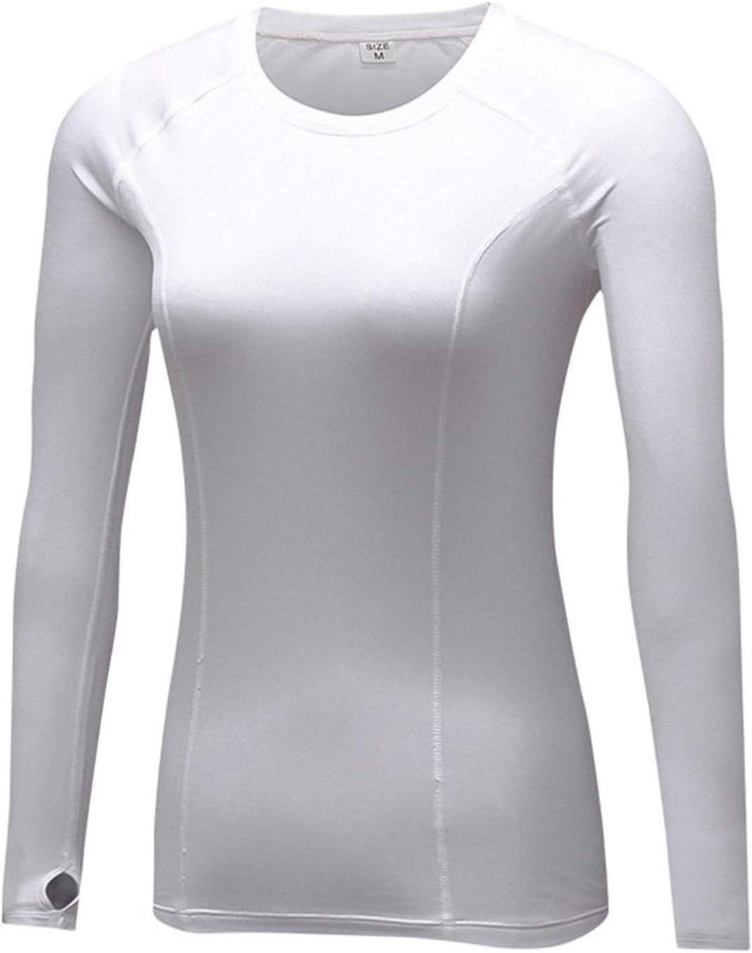QWERBAM Autumn Winter Warm Clothes Women Quick Dry Stretch Warm Thermal Underwear Women (Color : White, Size : Medium)