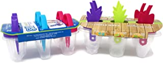 Variety Pack - Cool Gear Ice Treat Trays - Ice Ring Pop Tray & Ice Pop Mold Frozen Treat Maker Pineapple, Strawberry, Blackberry