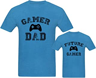 RAINBOWTEES Future Gamer -DAD and Son t-Shirts Set of for Father and Son or Daughter