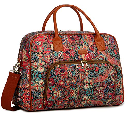 BAOSHA Patterned Lady Holdalls Travel Duffel Tote Bag Carry On Weekender Overnight Bags for Women HB-33 (Multicolour)