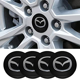JDclubs 4 x 56.5mm Car Lettering BBS Wheel Center Cap Sticker Wheel Emblem Badge Logo Stickers (fit Mazda)