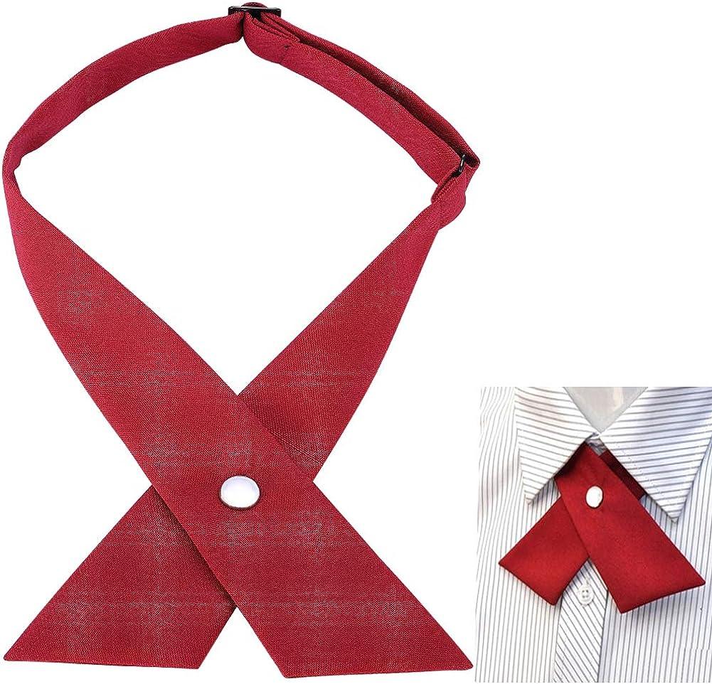 AUSKY Criss-Cross Bow Tie for Girl Uniform Adjustable Neck tie for Men Women