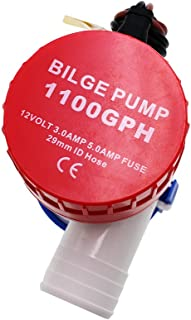 24V 12V Bilge Pump 1100GPH 750GPH 500GPH 350GPH New Electric Water Pump for Boats Accessories Marin,Submersible Boat Water Pump